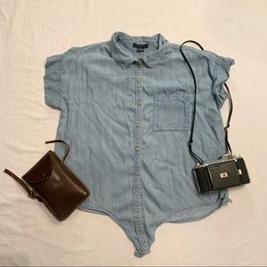 Sanctuary chambray button up shirt sleeve